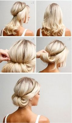 By means of rim-gum  14 hairstyles that can be done in 3 minutes - @nismitega1984