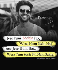 Quotes and Whatsapp Status videos in Hindi, Gujarati, Marathi Quotes In Hindi Attitude, Friendship Quotes In Hindi, Positive Attitude Quotes, Attitude Quotes For Boys, Attitude Status, Quotes For Status, Attitude Shayari For Boys, Fb Status, Strong Quotes