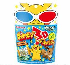 Kabaya Pokemon 3D W / Glasses Card candy Pikachu Electric shock lemon flavor Japan
