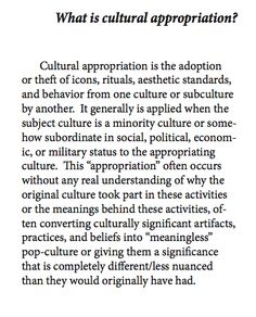 Cultural appropriation vs cultural exchange