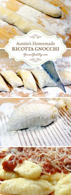 """Lovely This homemade ricotta gnocchi recipe is based the way my Italian Great Aunt Mary made it. Auntie didn't have a recipe, she expertly blended the ingredients until the dough """"felt"""" right.  .."""