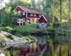 "Ferienhaus Schweden, Småland, 56892 Skillingaryd: ""Wihlma"" Swedish Cottage, Red Cottage, Swedish House, Wonderful Places, Beautiful Places, Travel Around The World, Around The Worlds, Norway Sweden Finland, Wellness Spa Hotel"