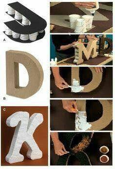 Ideas para hacer letras decorativas DIY