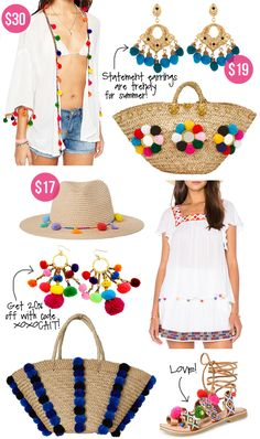 white peasant top // jean shorts // pom pom wedges // straw bag Today's post is a little different. Diy Fashion, Ideias Fashion, Southern Curls And Pearls, Iranian Women Fashion, Embroidery Boutique, Pom Pom Crafts, Refashion, Diy Clothes, Outfit Of The Day