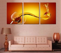 Amazon.com Hot Sell 3 Panels 40 x 60 cm Modern Wall Painting Beautiful & 138 best Wall Arts images on Pinterest | Canvas prints Photo canvas ...