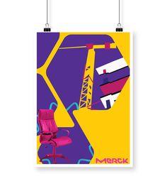 "Check out my @Behance project: ""Merck renovation poster"" https://www.behance.net/gallery/54624683/Merck-renovation-poster"