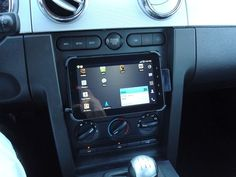 Tablet used as a car entertainment system