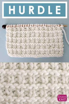 Loving this simple textured pattern! Hurdle Knit Stitch Pattern with Free Written Instructions, Knitting Chart, and Video Tutorial by Studio Knit. #StudioKnit #knittingstitches #knitstitchpattern #freeknittingpattern