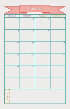 New 2015 Printable Calendar available for download. Available in Junior and A5 sizes. - The Uncluttered Lifestyle