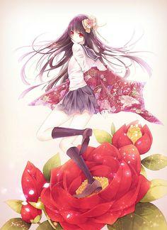 Anime Girl Flower