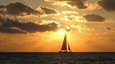 Kai Lani sailing off clearwater beach Florida on the Gulf of Mexico.