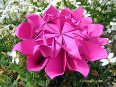 Origami ❀ Crane Flower ❀ - YouTube