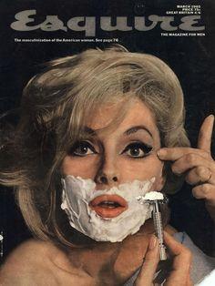 Virna Lisi by Jean-Paul Goude for Esquire Magazine March 1965 Jean Paul Goude, Magazin Design, Guys Be Like, Vintage Magazines, Grafik Design, Up Girl, Esquire, Art Director, Vintage Barbie