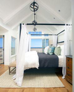 Breezy bedroom by Black Band Design.