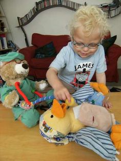 Awesome idea for customizing Chemo Duck! This little guy has a urostomy bag!