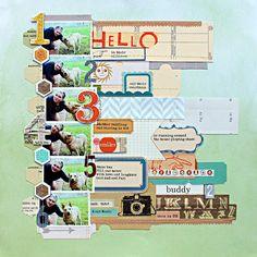 what a fun scrapbook layout by jill #scrapbook