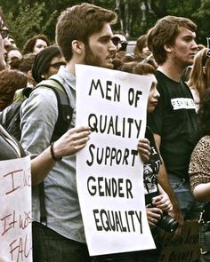 While we need to remember that sexism comes in every sex the reverse is also true. Not all feminists are women. S