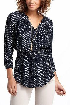 blouses, polka dots, cloth, style, peplum buttondown, dress, anthropologie, peplum blous, dot peplum