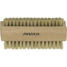 Nail brush with natural bristles