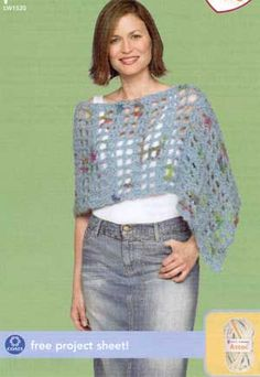 Crochet Poncho LW1520 | Free Patterns