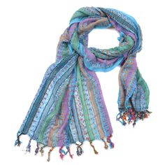 Striped Ladies Woven Scarf Various Colours by Charlotte's Web Jewellery, the perfect gift for Explore more unique gifts in our curated marketplace. Woven Scarves, Neck Scarves, Charlottes Web, Purple, Pink, Color Pop, Colours, Turquoise, Lady
