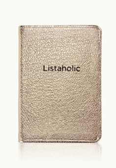 Gold 'Listaholic' notebook