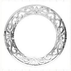 A Round Venetian Silver Mirror #mirror #furniture #homedecor #interiordecorating #custommade #french