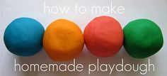 homemade playdough - we love this recipe! it stays soft for years, literally.