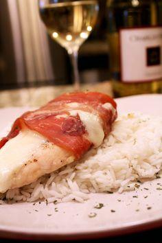 Prosciutto Wrapped Chicken with Mozzarella and Basil