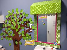 Give a mirror or window a makeover with a Teacher Created Resourse: Awning.