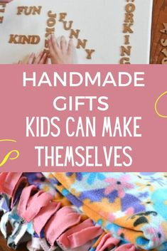 Cool Gifts For Kids, Diy For Kids, Crafts For Kids, Homemade Kids Gifts, Homemade Christmas Gifts, Diy Christmas Presents, Christmas Crafts, Gifted Kids, Parent Gifts
