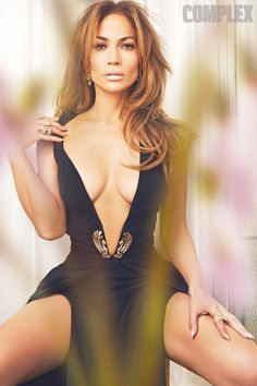Jennifer Lopez busty in plunging dress