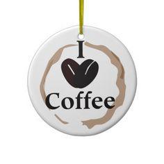 Personalized Custom Coffee Christmas Tree Ornament