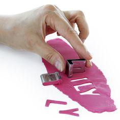 Set 26 moldes letras metálicas  #accesorios #reposteria #creativa