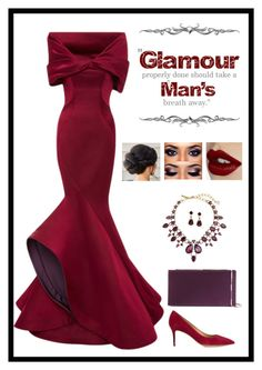 """Glam"" by ms-ironickel ❤ liked on Polyvore featuring Monique Lhuillier, Salvatore Ferragamo, Oscar de la Renta, Glitzy Rocks, Jimmy Choo and Charlotte Tilbury"
