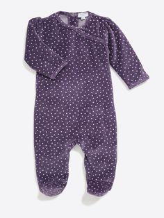 Dors bien imprimé étoiles en velours bébé fille