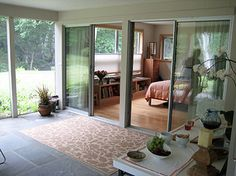 Lester Walker Architect : Residential Design - really like the bedroom opening onto an enclosed patio