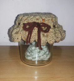 Jar cap cover crochet