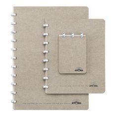 ATOMA Notizheft A4 blanko Grau | Atoma