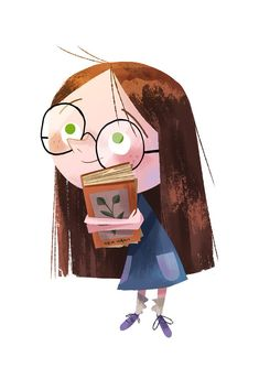 """""""Lil late scribble of Matilda for Roald Dahl Day from yesterday. Children's Book Illustration, Character Illustration, Illustration Children, Cartoon Drawings, Cute Drawings, Book Art, Kid Character, Character Design Inspiration, Illustrations And Posters"""