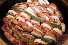 Brasilianisches Schichtfleisch Dutch Oven Zutaten