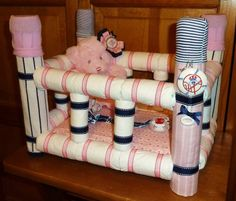 Diaper Crib - Custom by DiaperCreationsByD on Etsy, $90.00 www.DiaperCreationsByD.etsy.com
