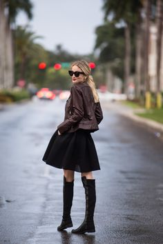 Little Blonde Book A Fashion Blog by Taylor Morgan: Bernardo Quilted Leather Moto