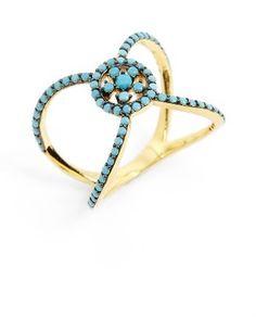 Shop Now - >  https://api.shopstyle.com/action/apiVisitRetailer?id=617520467&pid=uid6996-25233114-59 Women's Karen London Knot Ring  ...
