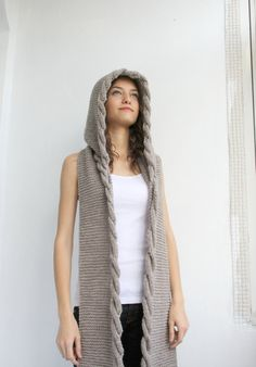 A special design more. If you are looking for special design, This is here. You will very love. It will be a indispensable of the closet.   This beautiful knitted Hooded Scarf is perfect for the changing weather, and will be fun to wear all season long.  This cowl is cozy and stylish.It s very soft and warm.  It is easy to chance around for many different looks and styles.  One size fits all  If you are interested in a particular color,let me know.  Perfect for your self or as a gift for…