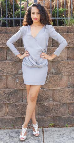 Gray Criss Cross Dress