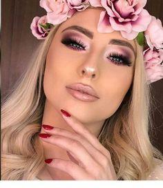 Cubana Chronicles - Living a healthy & successful life. - pink smokey eye makeup with light pink lips - Rose Gold Makeup, Glam Makeup, Bridal Makeup, Wedding Makeup, Hair Wedding, Face Makeup, Pink Lips Makeup, Barbie Makeup, Orange Makeup