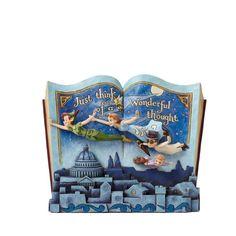Disney Traditions Peter Pan Storybook Off to Neverland #4049643 Jim Shore NIB