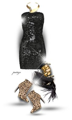 """""""Leopard in the Night"""" by rockreborn ❤ liked on Polyvore featuring Faith Connexion, Balenciaga, A.V. Max, Betsey Johnson and KG Kurt Geiger"""
