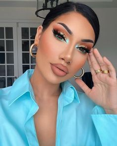 """ALINA on Instagram: """"Played around with some new products today. Do you guys like how the look turned out?"""" Makeup Eye Looks, Eye Makeup Art, Cute Makeup, Gorgeous Makeup, Pretty Makeup, Eyeshadow Makeup, Brown Eyeshadow, Bright Eyeshadow, Glam Makeup Look"""